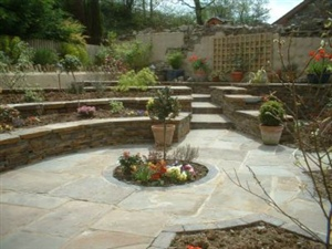landscape with patio idea