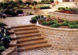 Bricks Stairs With Flowe Be