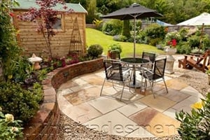 Garden With Patio Idea