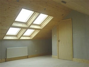 Natural Wood Attic