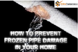 Home owner guide for preventing and dealing with frozen pipes in the home