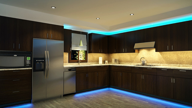 LED lighting in kitchen